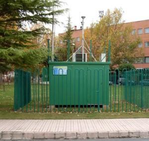 Imagen de la estación que mide la calidad del aire.
