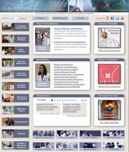Portada de la página web del Complejo Hospitalario.